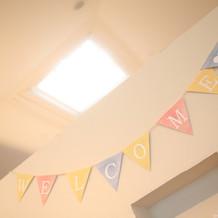 天窓があるのでさらに明るい雰囲気に