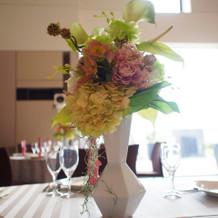 披露宴会場装花です