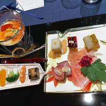 日本料理。前菜。