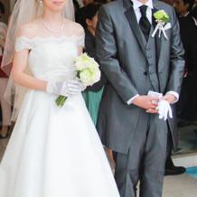 チャペルで着たウエディングドレス