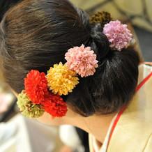 和装のヘアアレンジも可愛く。