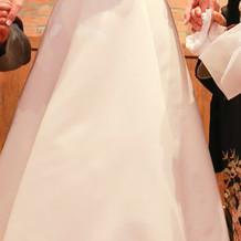 披露宴で着たウエディングドレス