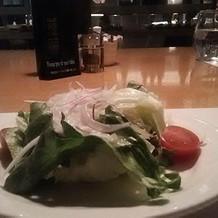 サラダもおいしい。