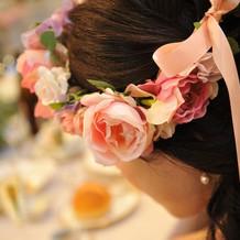 可愛い花冠。