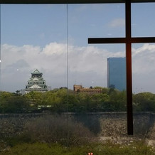 大阪城が見えてます