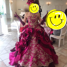 カラードレス可愛くてお気に入り