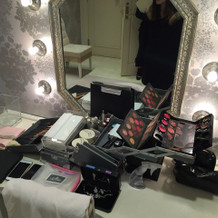 新郎新婦控え室、化粧台