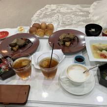 結婚式前の食事