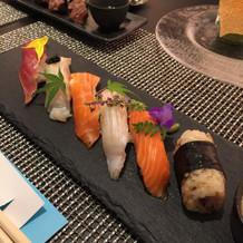 挙式後のお寿司①