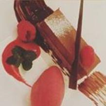 チョコムースとラズベリーアイス。さっぱり