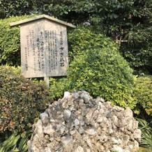 お庭にあるさざれ石