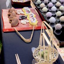 和菓子のビュッフェ