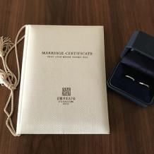 婚姻証明書 リング