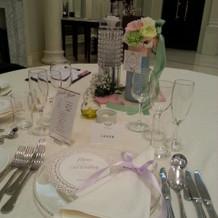 テーブルにも好きなように装飾できます。