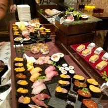 お寿司は本格的でとても美味しいです