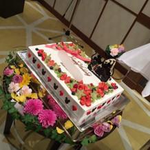 ケーキ&装花