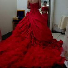 試着したドレス2