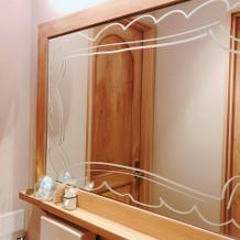 トイレの鏡です。自由に描けます。