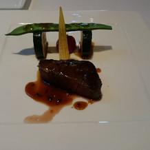 国産牛肉のポワレ