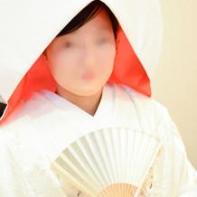綿帽子(裏赤)扇子(衣装付随小物)