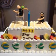 バレーボールデザインのケーキ♪