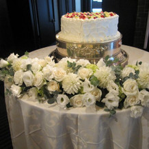 フレッシュケーキと装花
