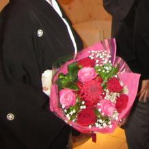 両親への贈呈用花束