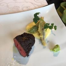 国産牛ヒレ肉のロース(メインの肉料理)