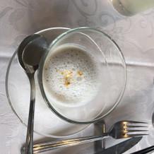 白アスパラガスのポタージュ(スープ)