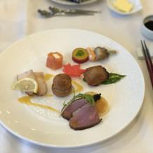 前菜の写真ですとても美味しかったです