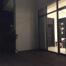 外から見た披露宴会場