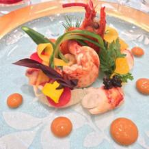 オマール海老の前菜