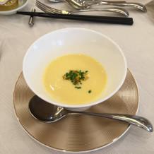 試食会でのスープ