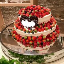 スタンダードにベリー系のケーキ