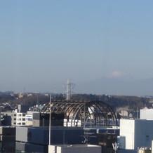 レストランから富士山が見えます