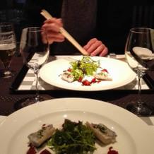 1周年記念のディナー