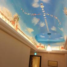 教会までの天井