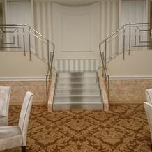 4階の会場、入場場所