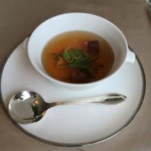 フォアグラのスープとか、贅沢でした!