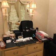 花嫁の衣装部屋。