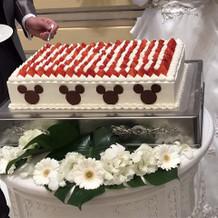 ミッキーのケーキ
