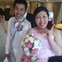 ピンクのドレス!