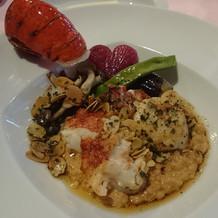 オマール海老のメイン料理