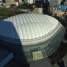 東京ドームホテルならではの眺め。