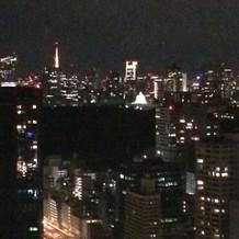 披露宴会場からの夜景。