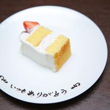 母の日サプライズのケーキプレート