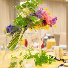 カラフルなお花がお気に入りです!
