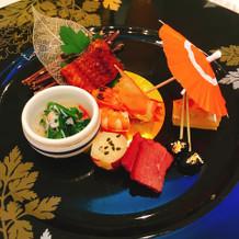 和食の前菜。繊細な味でした。