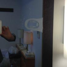 控え室の鏡に書いてくれました