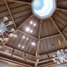 チャペルの天井。